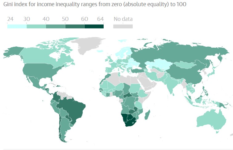 Mapamundi desigualdad